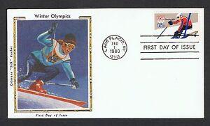 1980-Winter-Olympics-set-on-4-Colorano-silk-FDC-039-s-NS377