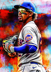 2021 Francisco Lindor New York Mets 7/25 Art ACEO Print Card By:Q