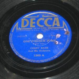 Count-Basie-Orchestra-One-O-039-Clock-Jump-John-039-s-Idea-Decca-1363-LP-Jazz
