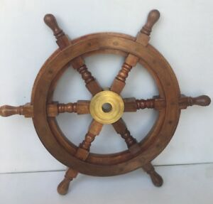 Details About Collectibles Ship Wheel 18 Boat Wall Home Decor Steering Gift Item
