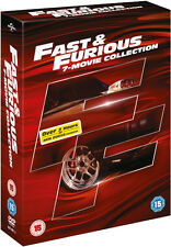 ❏ Fast and Furious 1-7 DVD Collection Complete Set + BONUS DISC ❏ 1 2 3 4 5 6 7