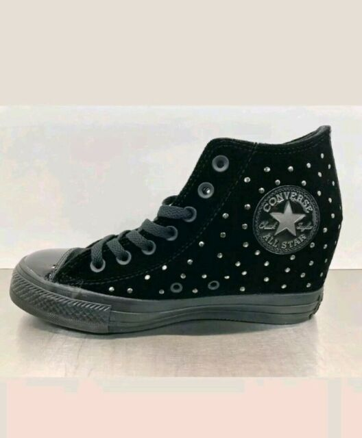 f1a5f1b39f39e9 New Converse CTAS Lux Mid Hidden Wedge Size 7 Women s Fashion Black 558975C