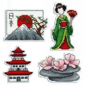 Magnets. Russian charms Counted Cross Stitch Kit MP STUDIO