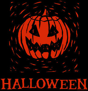 HALLOWEEN-WOODCUT-T-Shirt-Samhain-jack-o-lantern-trick-or-treat-All-Hallows-039-Eve