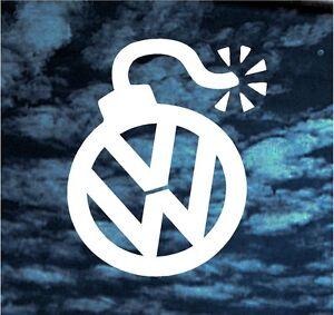 Vw Bomb Funny Vinyl Decal Sticker Volkswagen Gti Vr6 Jetta
