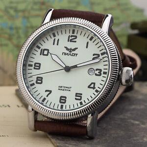 a7ace96fba0 Pilot Watch Aviator Automatic b-watch 8215 Military   Board Russia ...