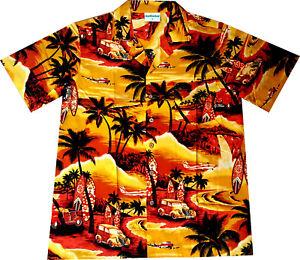 Camisa-Hawaiana-034-Verano-Dorado-034-100-algodon-talla-S-6XL-Hawaiiana-Hawaii