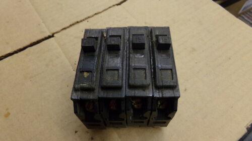 Details about  /Square D Circuit Breaker 1-Pole 15A Lot of 4 *FREE SHIPPING*