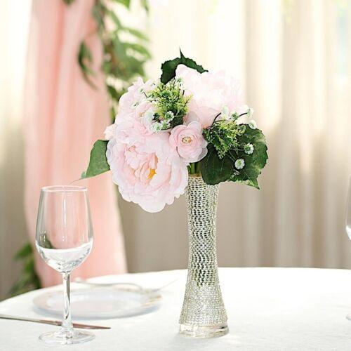 "12/"" tall Blush Silk Artificial Peony Flowers Bouquet Wedding Centerpieces SALE"