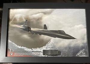 Lockheed SR-71 Blackbird Super Skater Relic Art #9 of 30 Rare FREE US Shipping