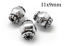 3pc-Sterling-Silver-925-bead-Hollow-Cylinder-bead-tube-11x9mm-Antique-silver thumbnail 1