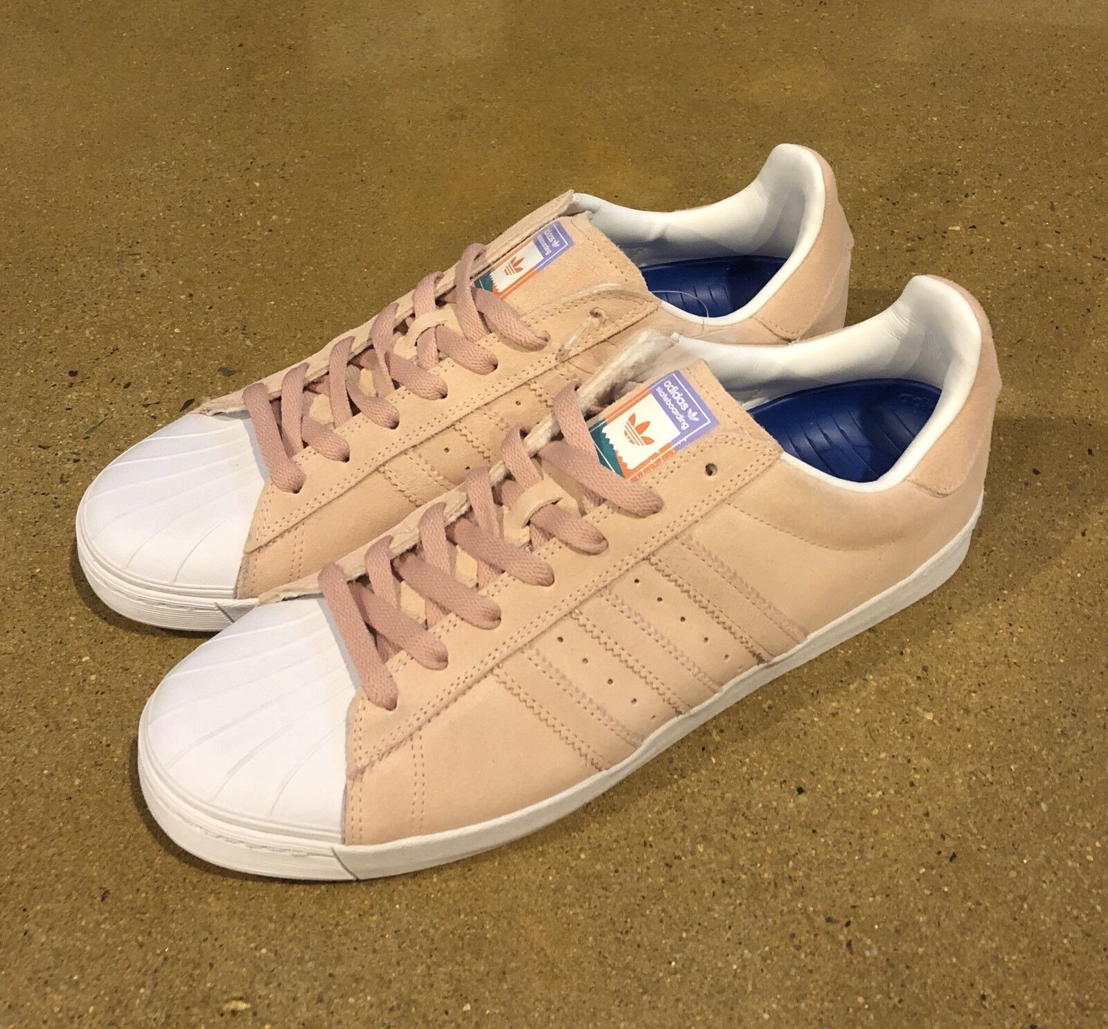 Adidas Superstar Vulc ADV Pastel Pink Size Sneakers 12 US Skate Shoes Sneakers Size 8152b9