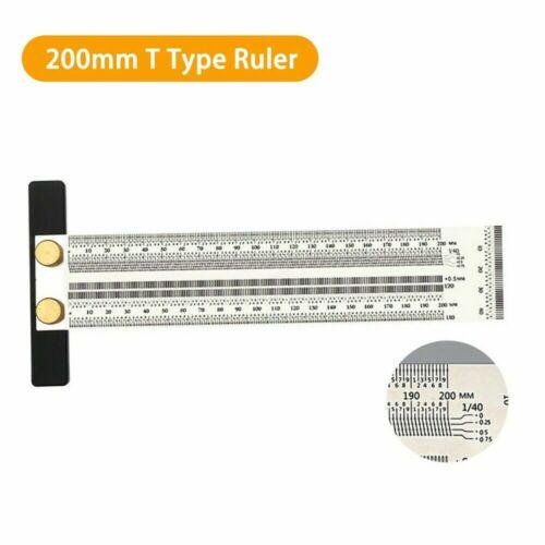Lineal rostfreiem Stahl T-Typ Carpenter Marking Gauge Line Scriber Messwerkzeug