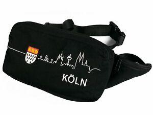super-Koeln-Tasche-schwarze-Bauchtasche-Skyline-Koeln-u-Wappen-Karneval-Fasching