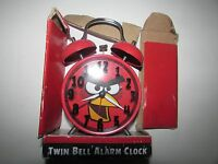 Angry Birds Twin Bell Alarm Clock - Red- Damage Box Battery Not Included