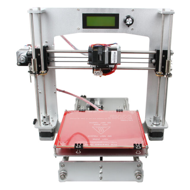 Geeetech Updated 3D Drucker Full Aluminum Reprap MK8 LCD Control From Belgium