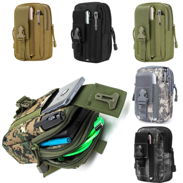 f0a567d063b4 Universal Tactical MOLLE Pouch Utility Waist Carrying Bag with Phone Holder  Camo