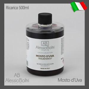 RICARICA PROFUMO AMBIENTE CASA PER DIFFUSORI BASTONCINI 500ML LUXURY MOSTO D'UVA
