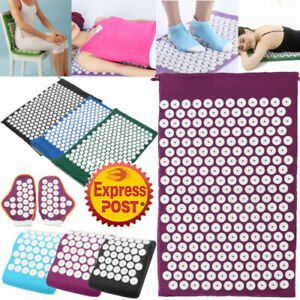 Massage Acupressure Yoga Mat With Pillow Sit Lying Mats Cut Pain Stress Sorene//A