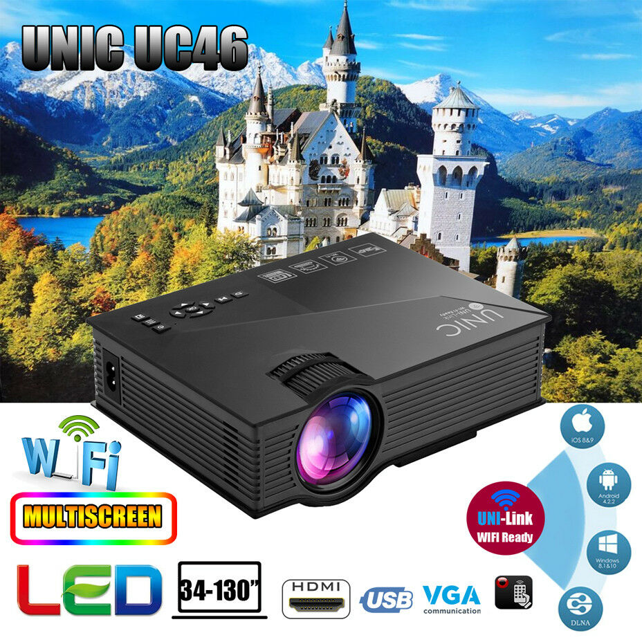 Unic Uc46 Wifi Hd 1080p Led Video Projector 3d Home Theater Sd Proyektor Projektor Mini Portable Uc 46 Norton Secured Powered By Verisign