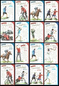 SPORTS THEME BIRTHDAY CARDS - Avalible in RELATION OR OPEN Card