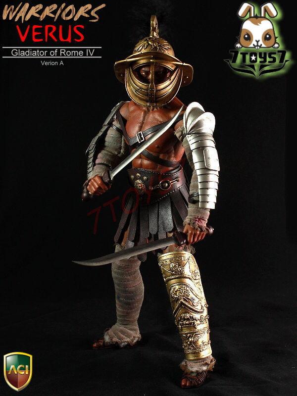 aci giocattoli 1  6 6 6 gladiatore verus_ cofanetto versione un difetto at042z _roman guerrieri iv 3f0481