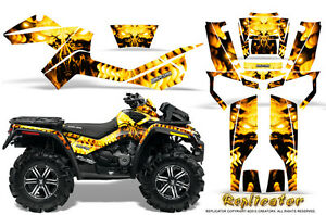 CAN-AM OUTLANDER MAX 500 650 800R GRAPHICS KIT CREATORX DECALS STICKERS YRW