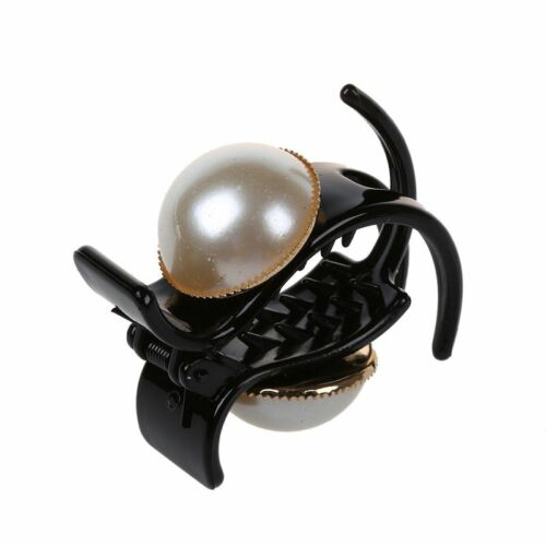 Pearl and Rhinestone Decorated Hair Clip Pin Claw Hair Accessories For Wom K2C0