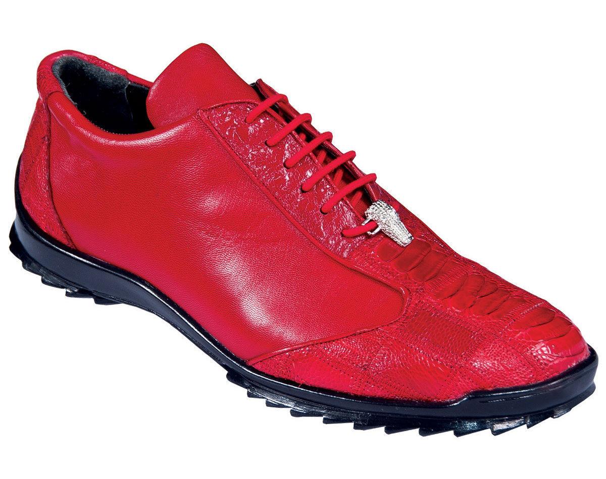 Los Altos Genuine RED Ostrich Leg Casual Shoes Lace Up Handmade Sneaker EE Scarpe classiche da uomo