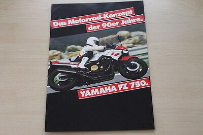 170846 Automobilia Yamaha Fz 750 Prospekt 01/1985 Chinesische Aromen Besitzen Auto & Motorrad: Teile