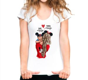Women-T-Shirt-Super-Mama-Baby-Boy-Love-Printed-White-Female-T-Shirt-Tops-Outwear