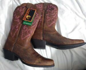 43a94684fdc Ariat Ladies Round Up Square Toe Western Boot 10014172 NIB 7.5/8 ...