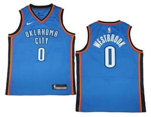 quality design f2e33 7df5f Details about Youth Nike Russell Westbrook #0 OKC Thunder Blue Swingman  Jersey M (10/12)