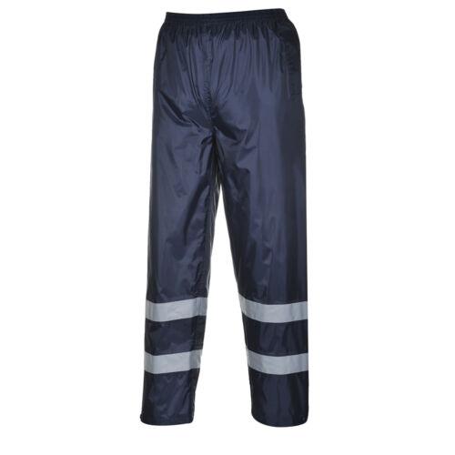 Portwest Uomini Classici Pantaloni Pioggia Iona Blu Scuro Taglie Multi F441