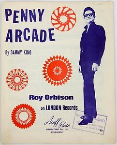 Penny arcade by sammy king vintage sheet music roy orbison 1969 song image is loading penny arcade by sammy king vintage sheet music m4hsunfo