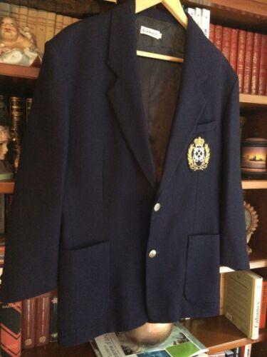 wollen Cacharel Navy 42 maat top royal jas 40 vintage wSRATSaq5