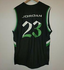 Vintage Nike Air Michael Jordan Jersey 23 Black Green Mens X Large ...