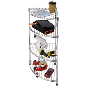 4T-Corner Rack Storage Shelf Galvanized Anti-rust Steel Adjustable Organizer