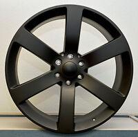 Set (4) 24 Fl Black Ss Style Chevy Gmc Silverado Sierra Tahoe Wheels Rims
