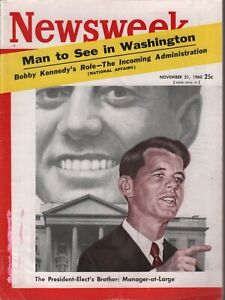 Newsweek November 21 1960 John F Kennedy JFK Bobby Kennedy 073019AME