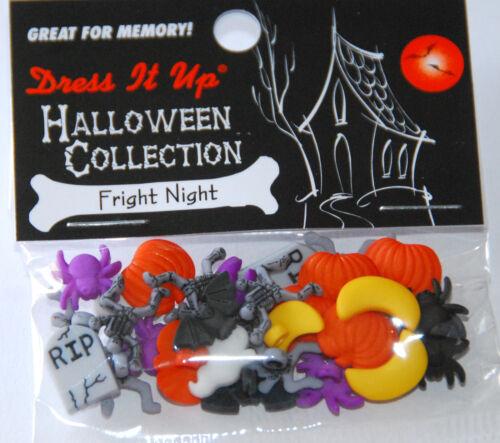 Jesse James Dress It Up NIP Fright Night Buttons Mini Halloween Buttons