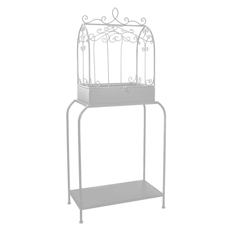 Planta de pie con jaula de metal-gris únicos Vintage bastante en niveles Estantería Unidad