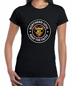 Northern-Soul-Turnin-039-My-Hearbeat-Up-Women-039-s-T-Shirt