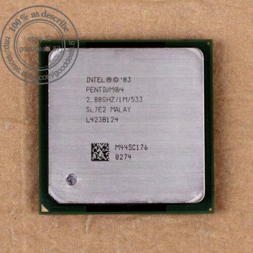 1 von 1 - Lots of 10 Intel Pentium 4 - 2.8 GHz 533 MHz Skt 478 SL7E2 SL7PK CPU Prozessoren