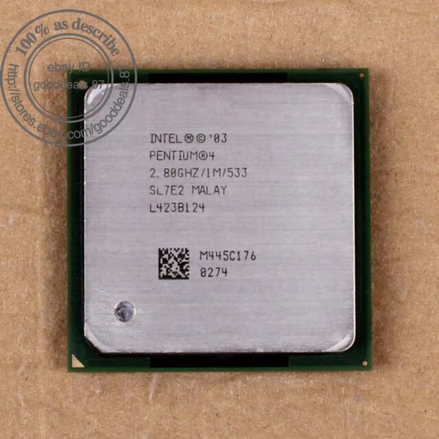 Intel Pentium 4 - 2.8 GHz (RK80546PE0721M) 478 SL7E2 SL7PK CPU Processor 533 MHz