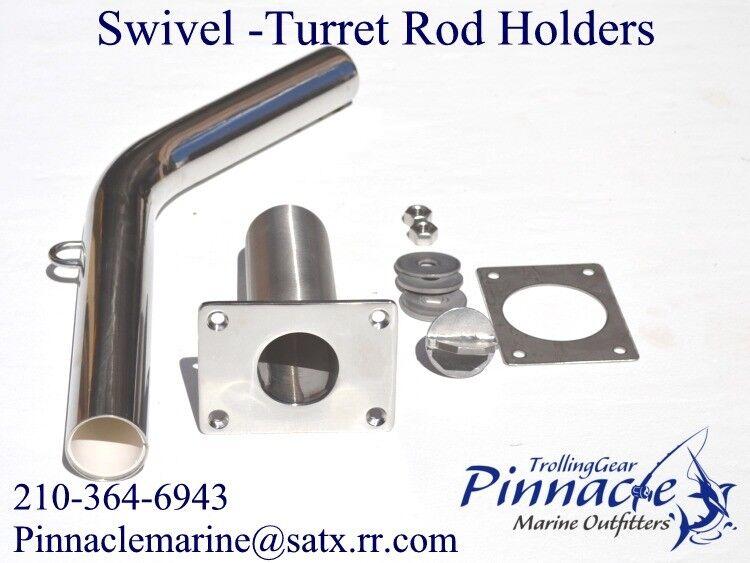 Tonijn met blauwe vin  zwaardvis Commercial Grade Swivel Rod Holder --316 Stainkless NIEUW