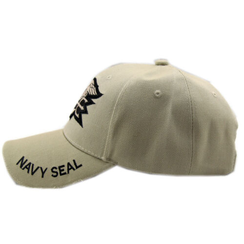 Khaki Outdoor Military Hunting Embroidered US Navy Seal Baseball Cap Sunhat