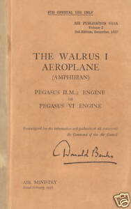 SUPERMARINE-WALRUS-I-AP-1515A-VOLUME-I-DESCRIPTION