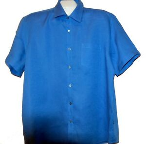 Hugo-Boss-Men-039-s-Blue-Classic-Fit-Cotton-Casual-Shirt-Size-2XL-Good-Condition