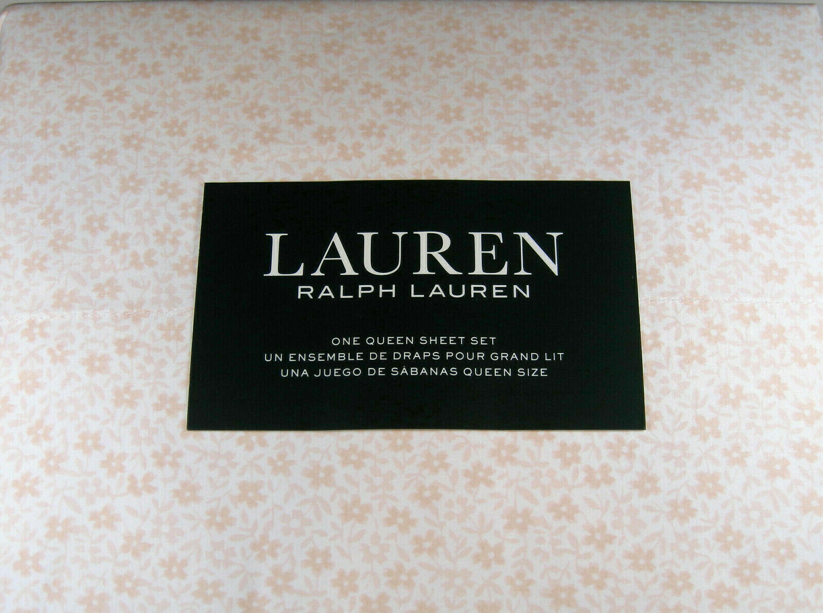 Ralph Lauren 4 pc.Queen Small .Floral Sheet Set  100% Cotton Champagne Pink